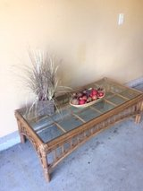 Rattan Glass Top Coffee Table in St. Charles, Illinois