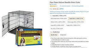 "Deluxe 2-door Dog Crate - 30""x19""  21""H - Moving / PCS Sale!!! in Stuttgart, GE"
