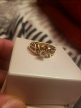 14 kt Gold engagement ring w matching wedding ring in St. Charles, Illinois