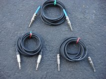 """TEN FOOT LONG 1/4 """" PATCH CORDS in St. Charles, Illinois"""
