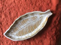 Decorative wooden leaf in Ramstein, Germany