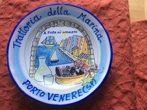 Hand painted Italian plate in Ramstein, Germany