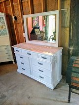 signed ultra high end dresser with mirror in Camp Lejeune, North Carolina