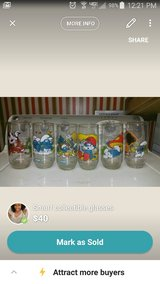 smurf collectible glasses in Camp Lejeune, North Carolina