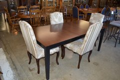 Dining Table, butterfly leaf & 4 chairs in Fort Lewis, Washington