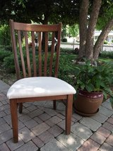 DINING TABLE CHAIRS (6) MADE OF HARD MAPLE IN CANADA in Oswego, Illinois
