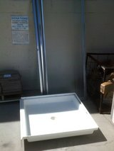 Shower pan with glass door in Alamogordo, New Mexico