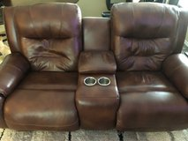POWER RECLINING LEATHER SOFA in Kingwood, Texas