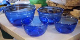 Cobalt blue mixing bowels, new in Naperville, Illinois