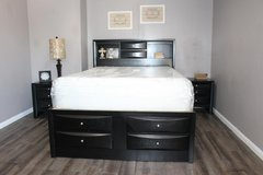 "Queen Size Black Bedroom Set (3Pc) - ""Paola Collection"" in Kingwood, Texas"