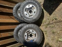 Truck tires in Fort Lewis, Washington