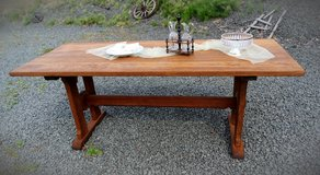 beautiful refectory table made of solid oak restored in Ramstein, Germany