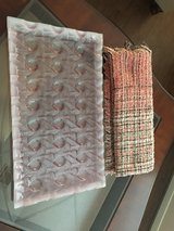 glass tray w/ small matching throw in Houston, Texas