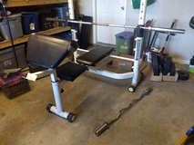 Weight bench with bars, 260# weight in Camp Pendleton, California