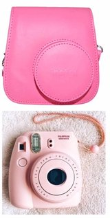 pink instax mini 8 camera and case in Okinawa, Japan
