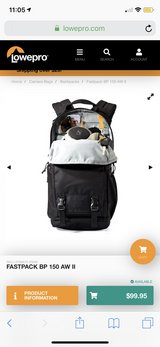 lowepro Fastpack BP 150 AW II backpack in Okinawa, Japan