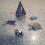 Pewter Minature Animals and Boat in Glendale Heights, Illinois