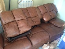Leather sofa and Love couch recliners in Eglin AFB, Florida