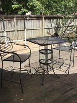 Patio bar set - table and 2 chairs,  metal with mesh in Houston, Texas