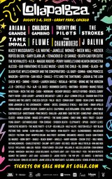 Lollapalooza four day passes in Aurora, Illinois