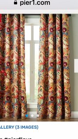 paisley curtains in Fort Campbell, Kentucky