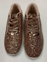 ***BRAND NEW***Women's Gold Glitter Sneakers***SZ 8.5 in Kingwood, Texas