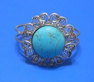 (# 28) Women's Round Turquoise and Metal Bracelet (New) in Tomball, Texas