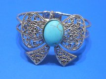 (# 29) Women's Bow Tie Turquoise and Metal Bracelet (New) in Tomball, Texas