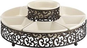 ***BRAND NEW***Elegant 7-Piece Section Serving Platter Ceramic Chip and Dip Set. in Cleveland, Texas
