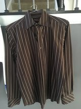 Men's Large brown striped shirt in Chicago, Illinois