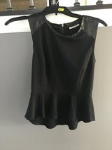Women XS halogen leather trimmed peplum in Chicago, Illinois