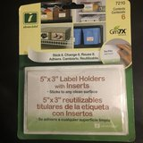 """5"""" x 3"""" Label Holders with Inserts in Chicago, Illinois"""