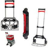 Magna Cart Personal 150 lb Capacity Aluminum Folding Hand Truck (Black/Red) in Glendale Heights, Illinois