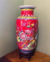 Vase red in Okinawa, Japan