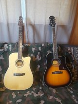 Epiphone and Peavey acoustic-electric guitars in Fort Leonard Wood, Missouri