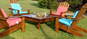 Wooden Adirondacks Outdoor Patio/Fire pit Furniture in Fort Hood, Texas