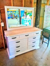 signed ultra high end dresser with mirror in Cherry Point, North Carolina