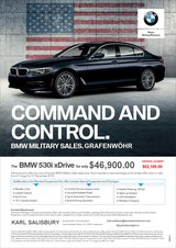 2020 BMW 530i xDrive Sedan PROMO offer in Grafenwoehr, GE