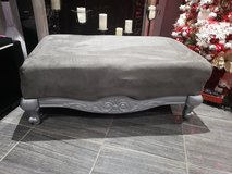 Microfiber Silver Grey Ottoman in Fort Campbell, Kentucky