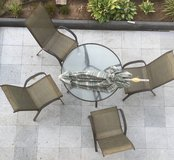 Garden table, chairs, umbrella in Ramstein, Germany