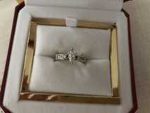Engagement solitaire ring and enhancer in Ramstein, Germany