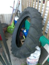 Tractor tire for exercising in Fort Knox, Kentucky