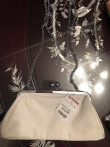 Off white/cream/ white ?Faux  Snakeskin  clutch NEW with tags in Okinawa, Japan