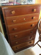 vintage wood tall dresser, north riverside in Chicago, Illinois