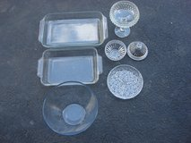 GLASS DISHES AND BAKING PANS & GLASSWARE ITEMS in Bartlett, Illinois