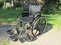 "Medline K4 Basic Lightweight Wheelchair with 18""Wx16""D Seat, Removable Footrests in Glendale Heights, Illinois"