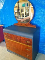 signed Antique dresser with mirror in Cherry Point, North Carolina