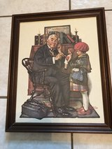 """Norman Rockwell Marmont Hill """"Doctor and the Doll""""  on canvas board in Chicago, Illinois"""