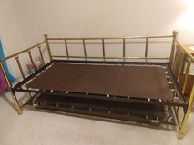 Daybed with trundle- Brass type metal in Kingwood, Texas
