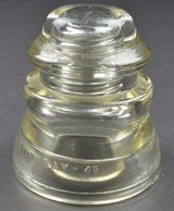 Glass Insulators clear HEMINGRAY-45 (37-50) Double Petticoat Western Union R skirt in Cary, North Carolina